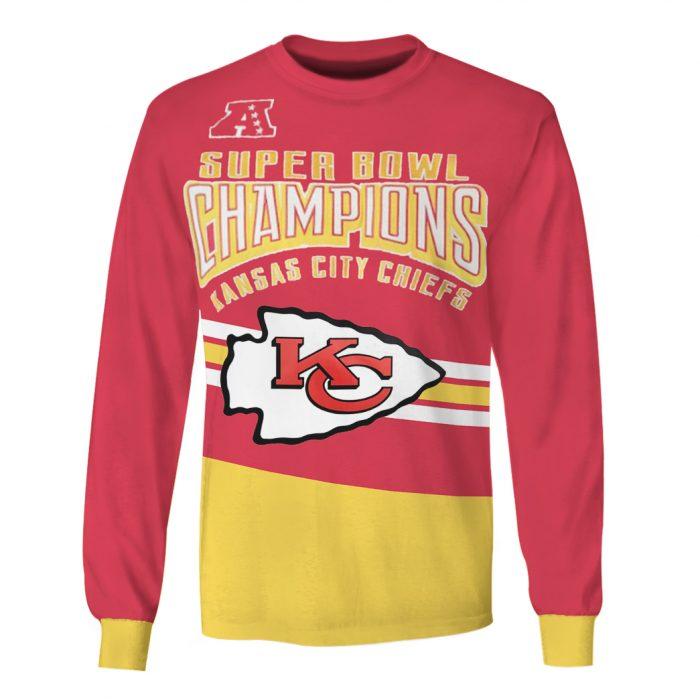 super bowl champions kansas city chiefs full over printed sweatshirt