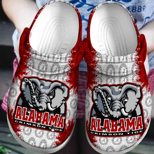 the alabama crimson tide football crocband clog 1