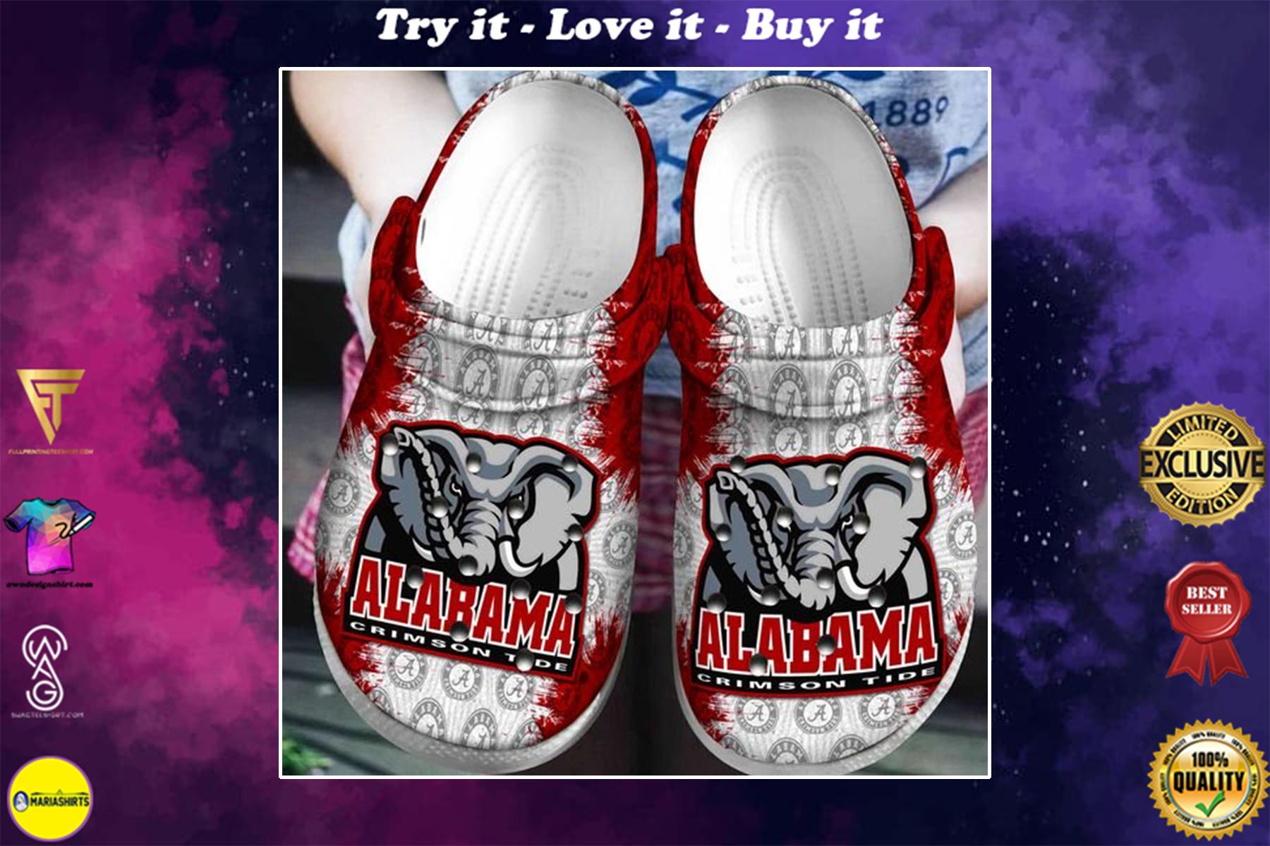 the alabama crimson tide football crocband clog - Copy