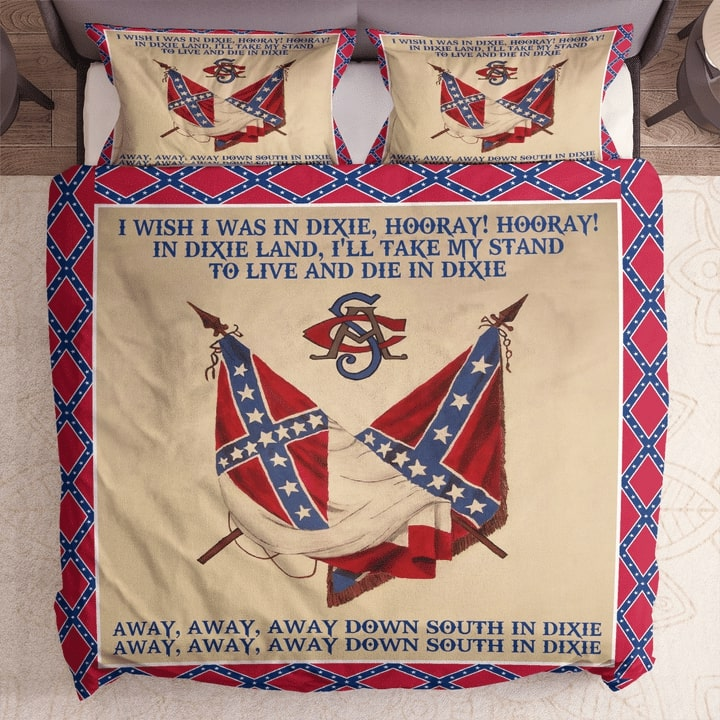 the flags of the confederate states of america dixie lyrics bedding set 1