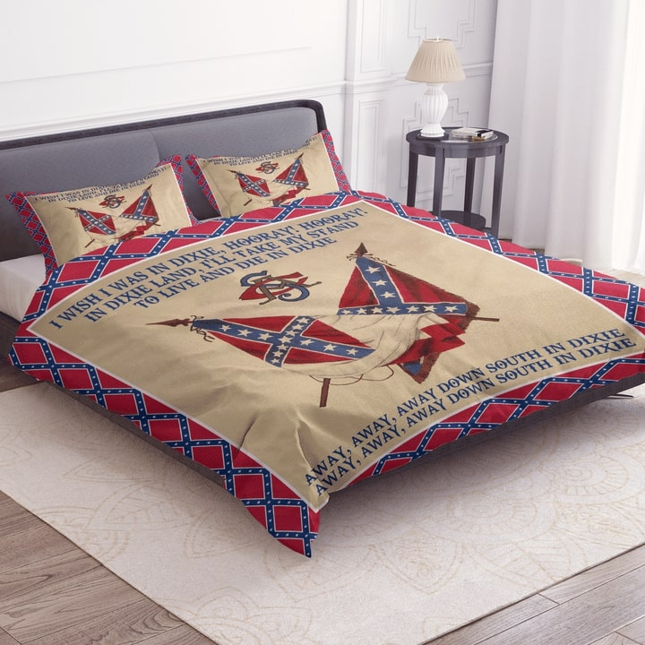 the flags of the confederate states of america dixie lyrics bedding set 2