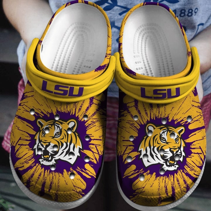 the lsu tigers football crocband clog 1