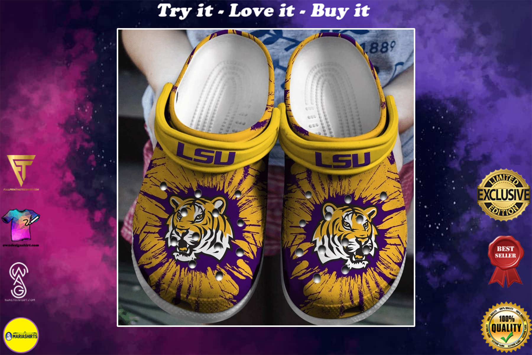 the lsu tigers football crocband clog - Copy
