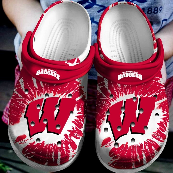 the wisconsin badgers football crocband clog 1