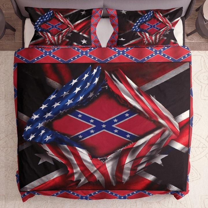 usa flag and confederate flag bedding set 1