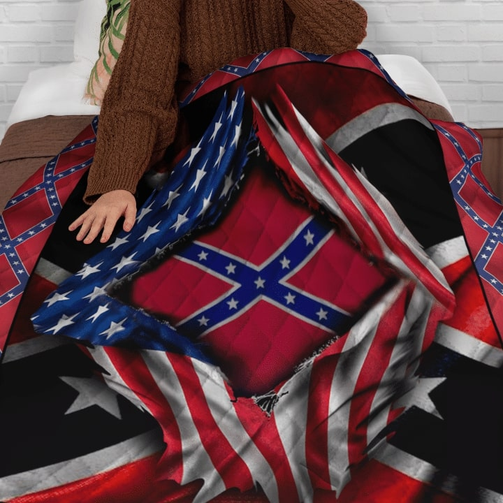 usa flag and confederate flag bedding set 4