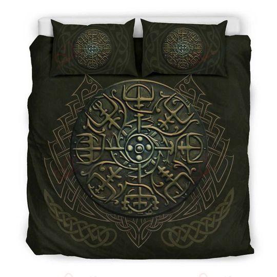 viking symbols bedding set 3