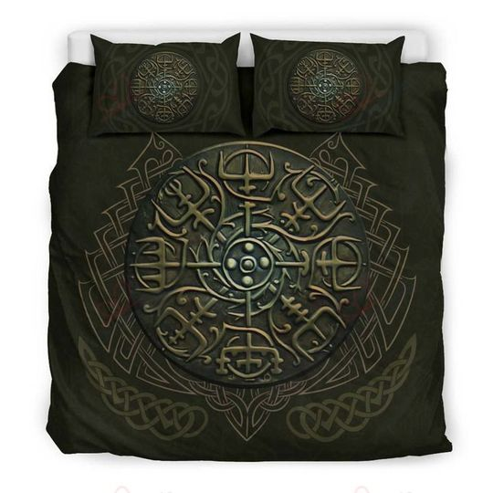 viking symbols bedding set 4