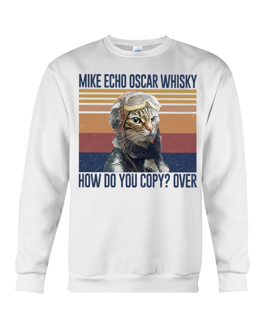 vintage flying cat mike echo oscar whisky how do you copy over sweatshirt
