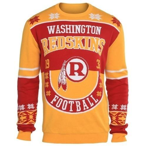 washington redskins holiday ugly christmas sweater 1
