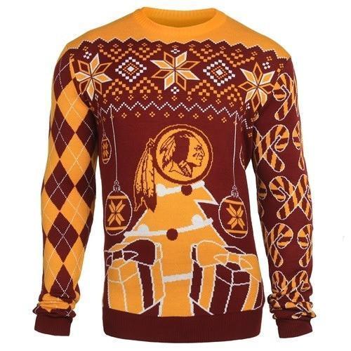 washington redskins ugly christmas sweater 1
