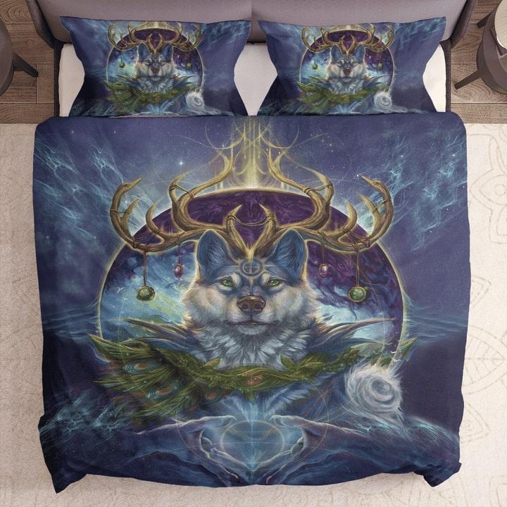 wolf spirit dreamcatcher bedding set 1