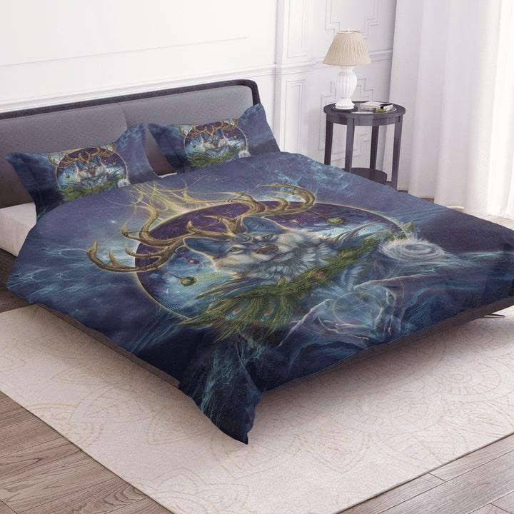 wolf spirit dreamcatcher bedding set 3