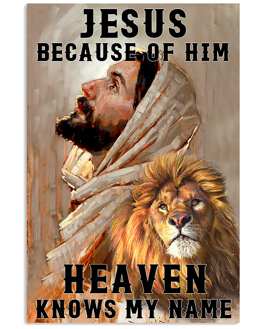 Jesus because of him heaven knows my name lion poster 1