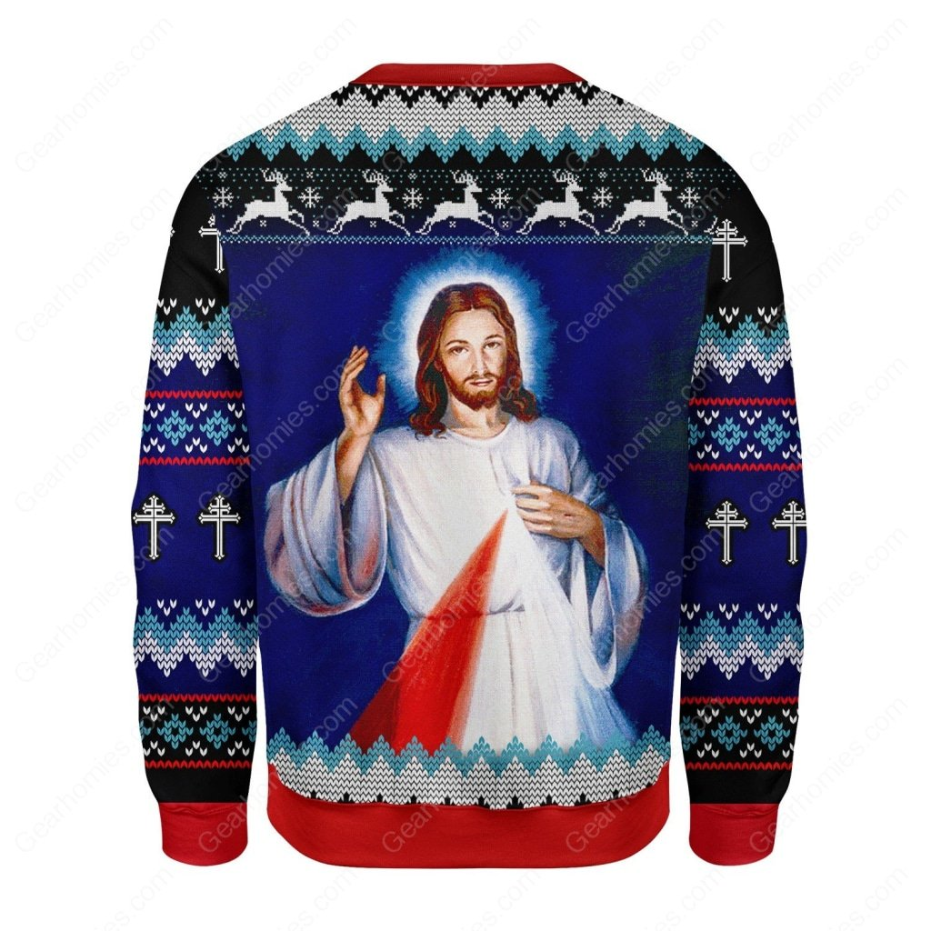 Jesus i trust in you all over printed ugly christmas sweater 5