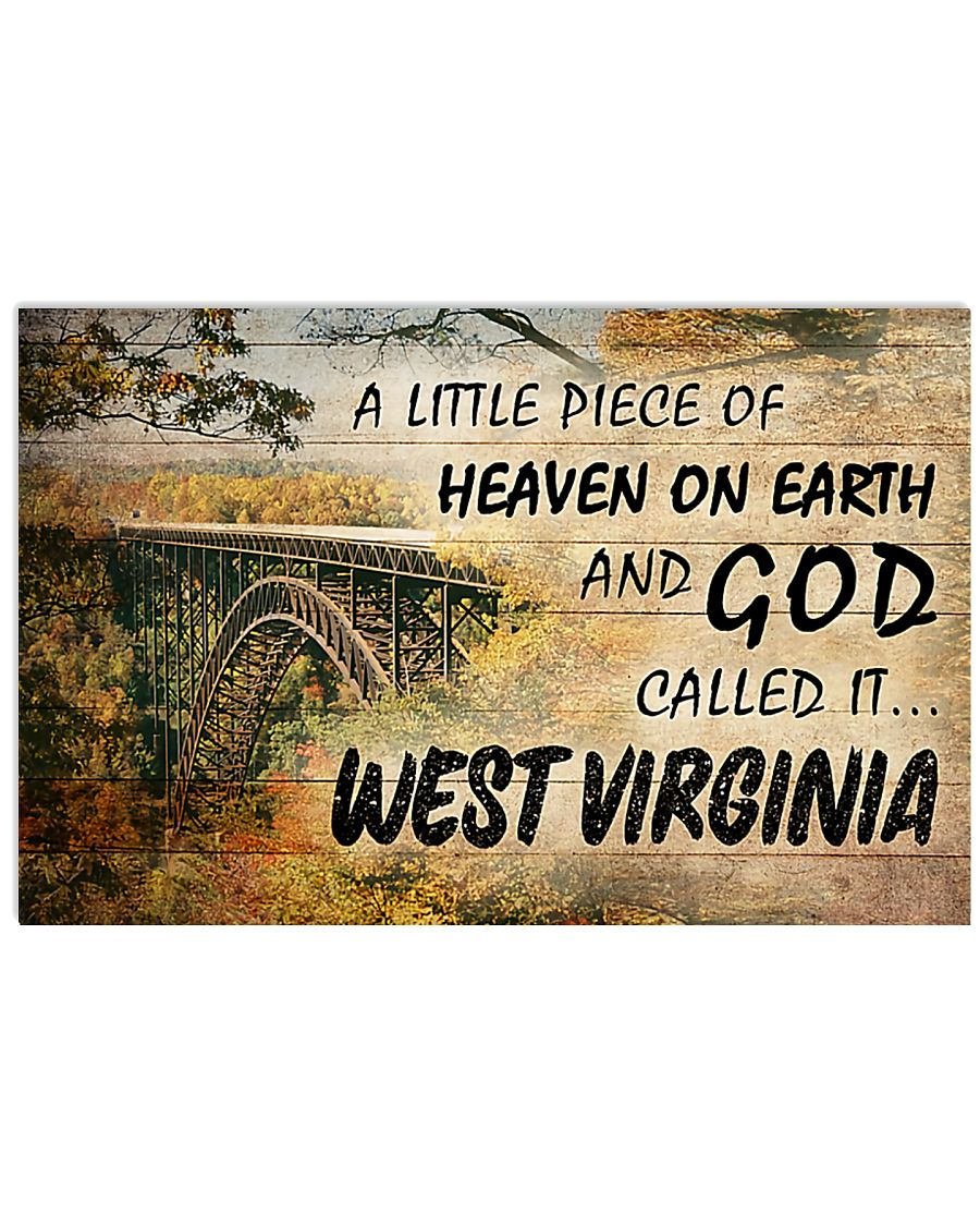 a little piece of heaven on earth and God called it west virginia vintage poster 3