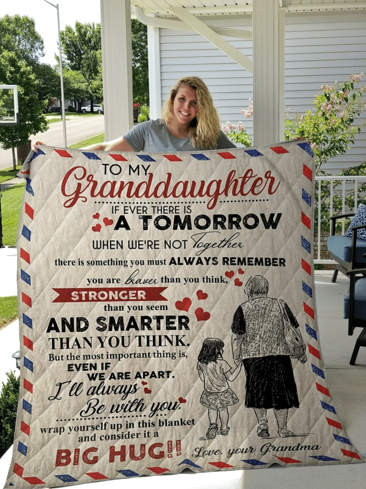 air mail letter to my granddaughter i will always be with you your grandma quilt 3