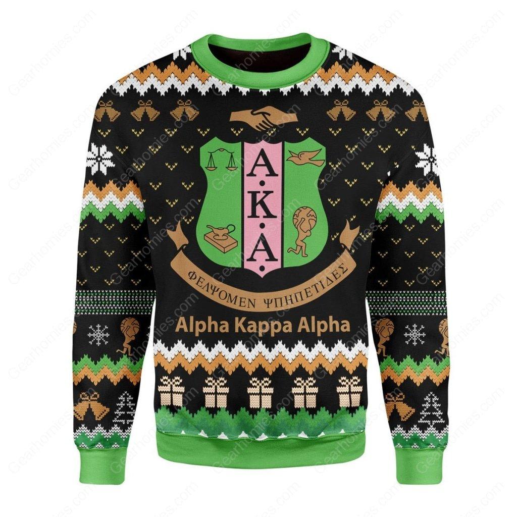 alpha kappa alpha all over printed ugly christmas sweater 2