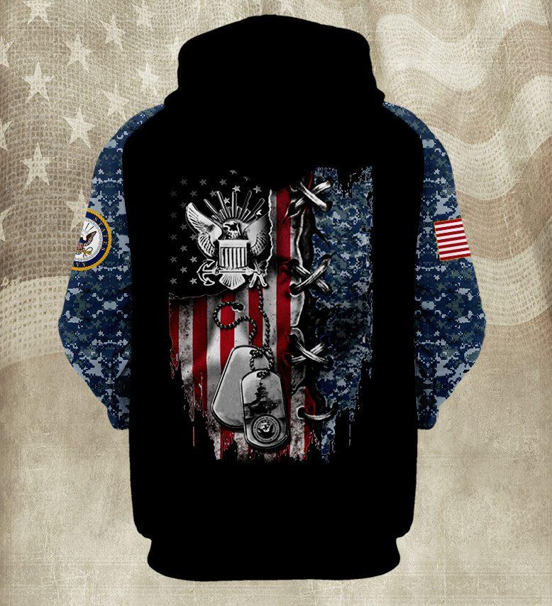 american flag united states navy full over printed shirt 3