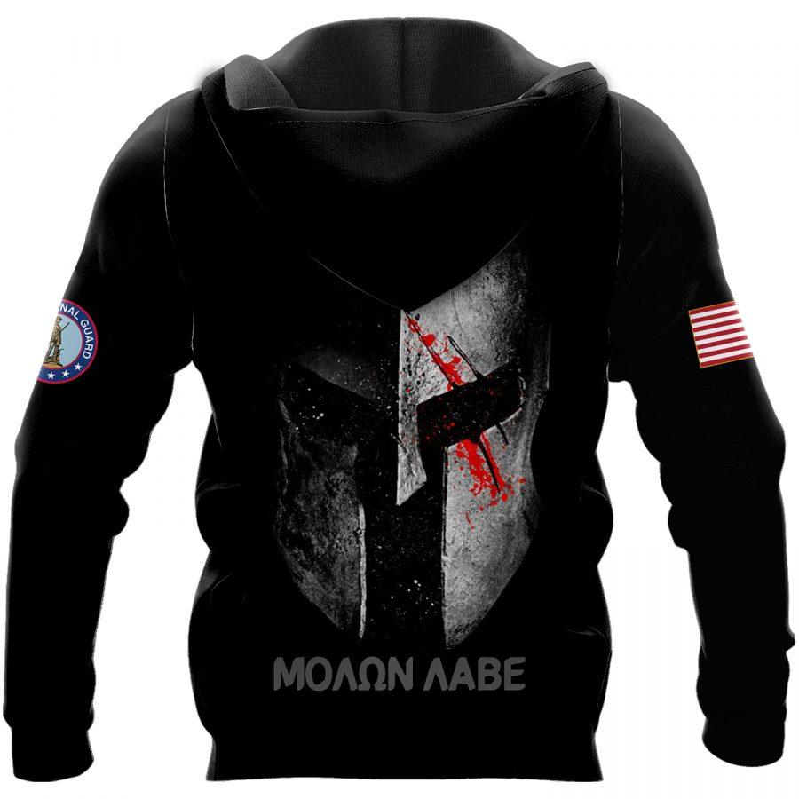 army national guard warrior molon labe full over printed shirt 3