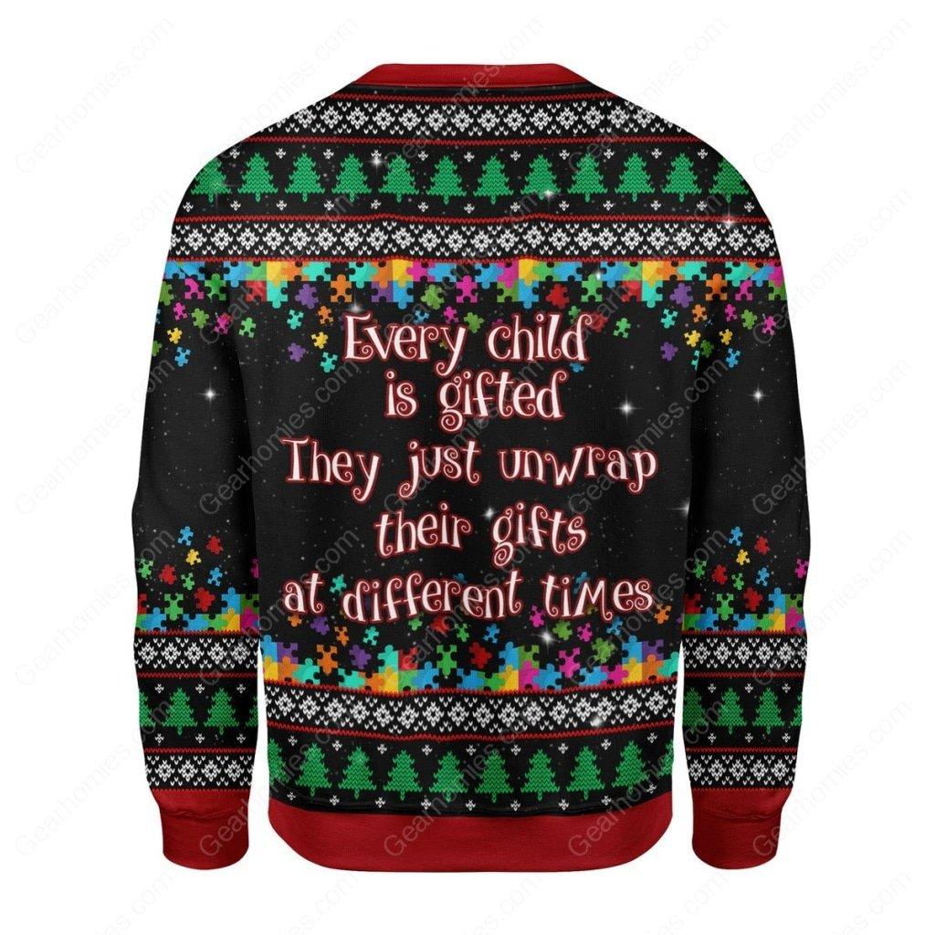 autism awareness all over printed ugly christmas sweater 4