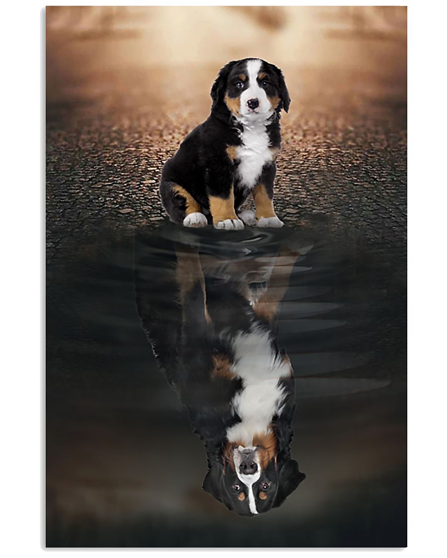 bernese mountain dog believe in yourself poster 1
