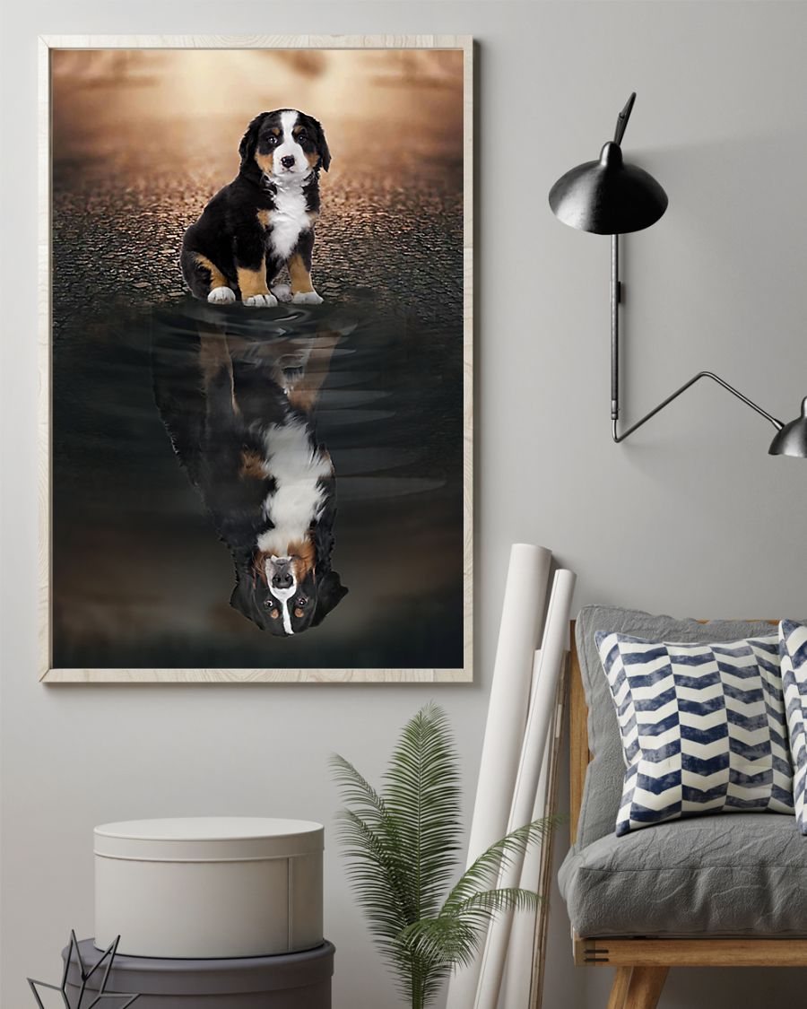 bernese mountain dog believe in yourself poster 2