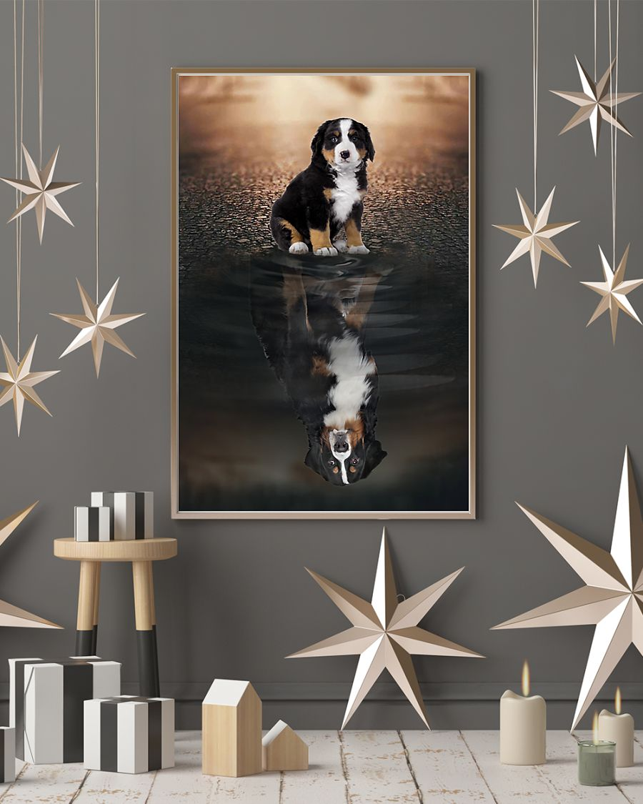 bernese mountain dog believe in yourself poster 3