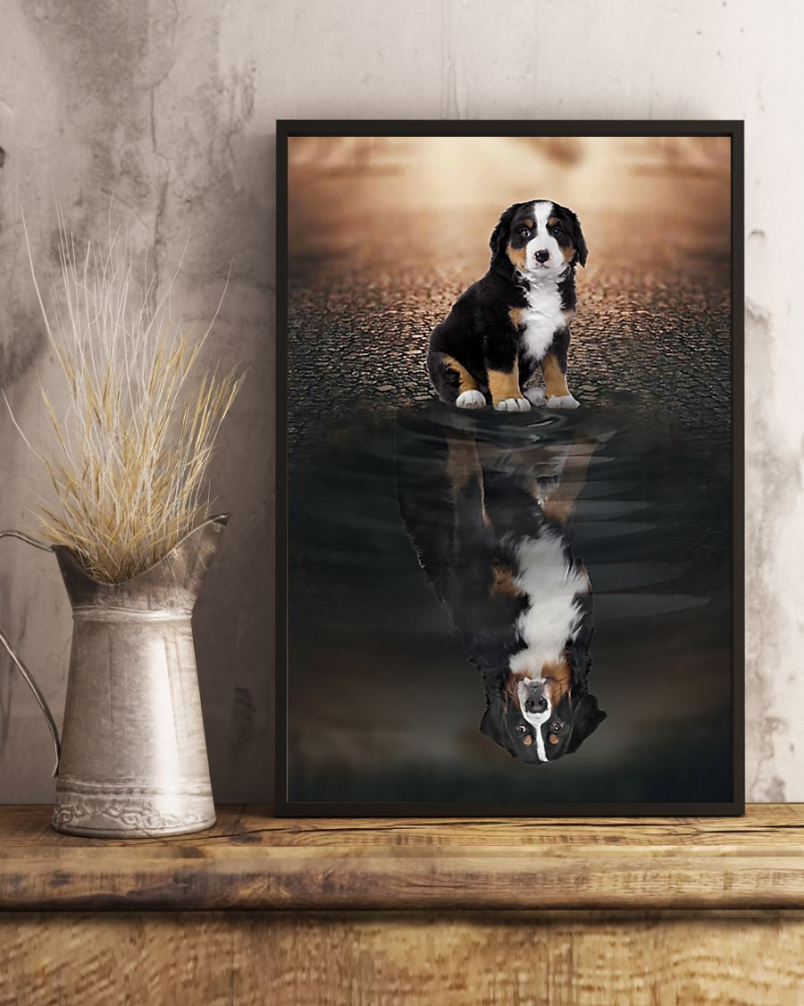 bernese mountain dog believe in yourself poster 4
