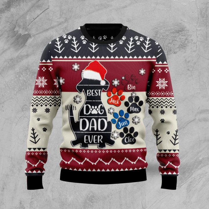 best dog dad ever full printing christmas sweater 3