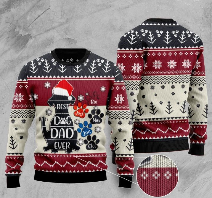 best dog dad ever full printing christmas sweater 4
