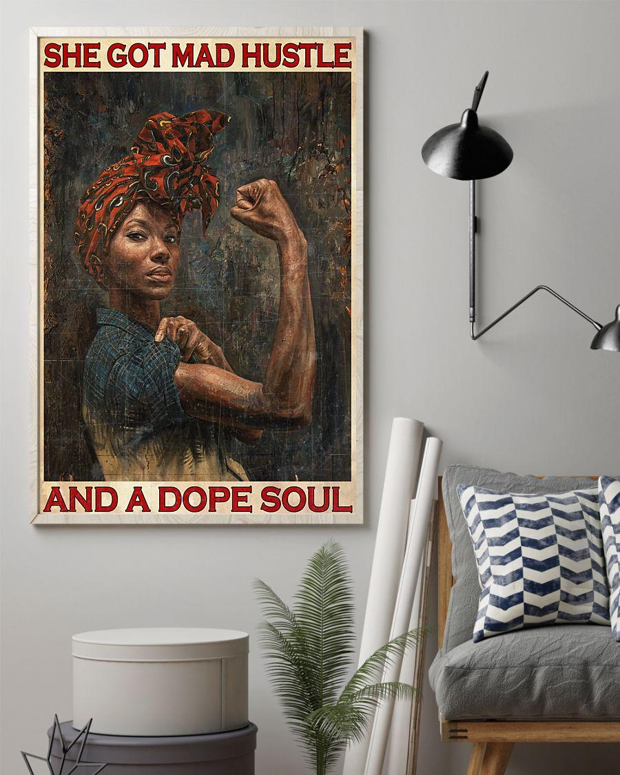 black girl she got mad hustle and a dope soul vintage poster 2