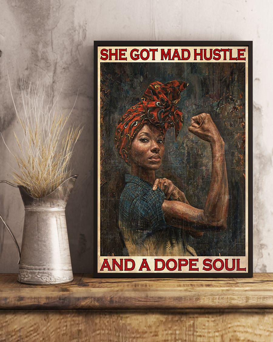 black girl she got mad hustle and a dope soul vintage poster 3