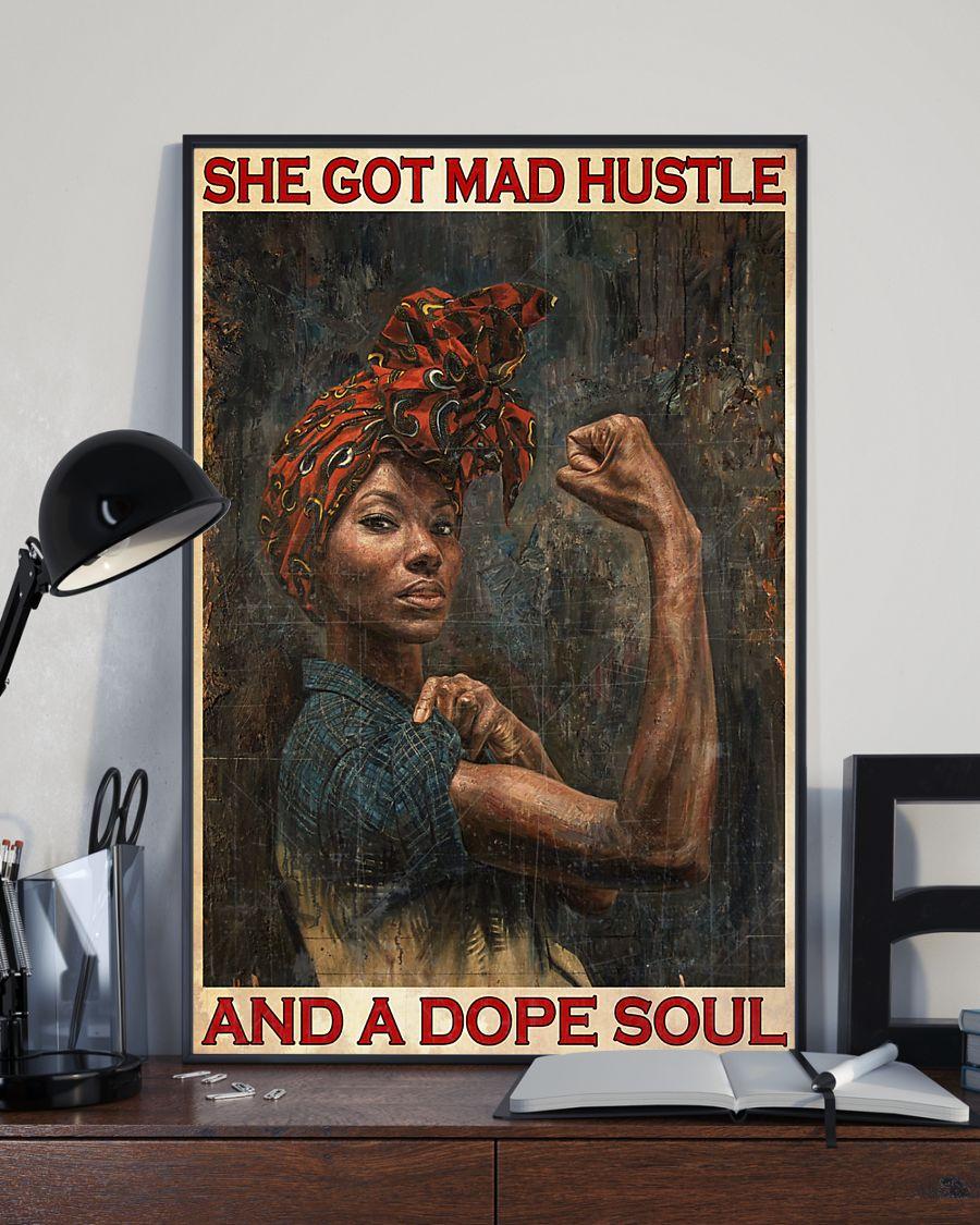 black girl she got mad hustle and a dope soul vintage poster 4