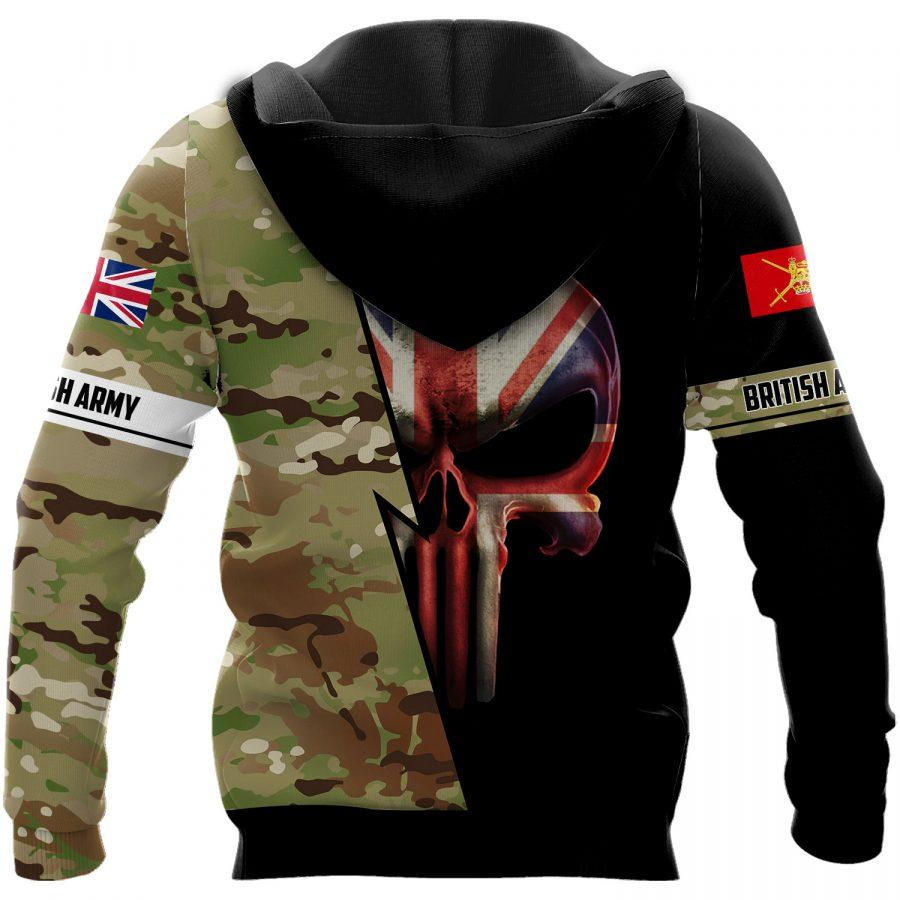 british army skull camo full over printed hoodie 1