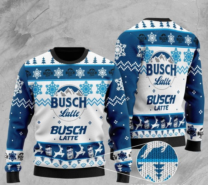 busch latte beer all over printed ugly christmas sweater 2 - Copy