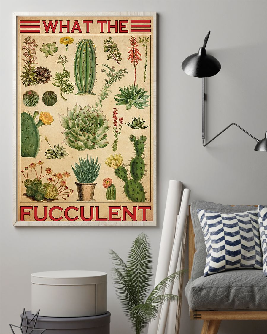 cactus what the fucculent vintage poster 2