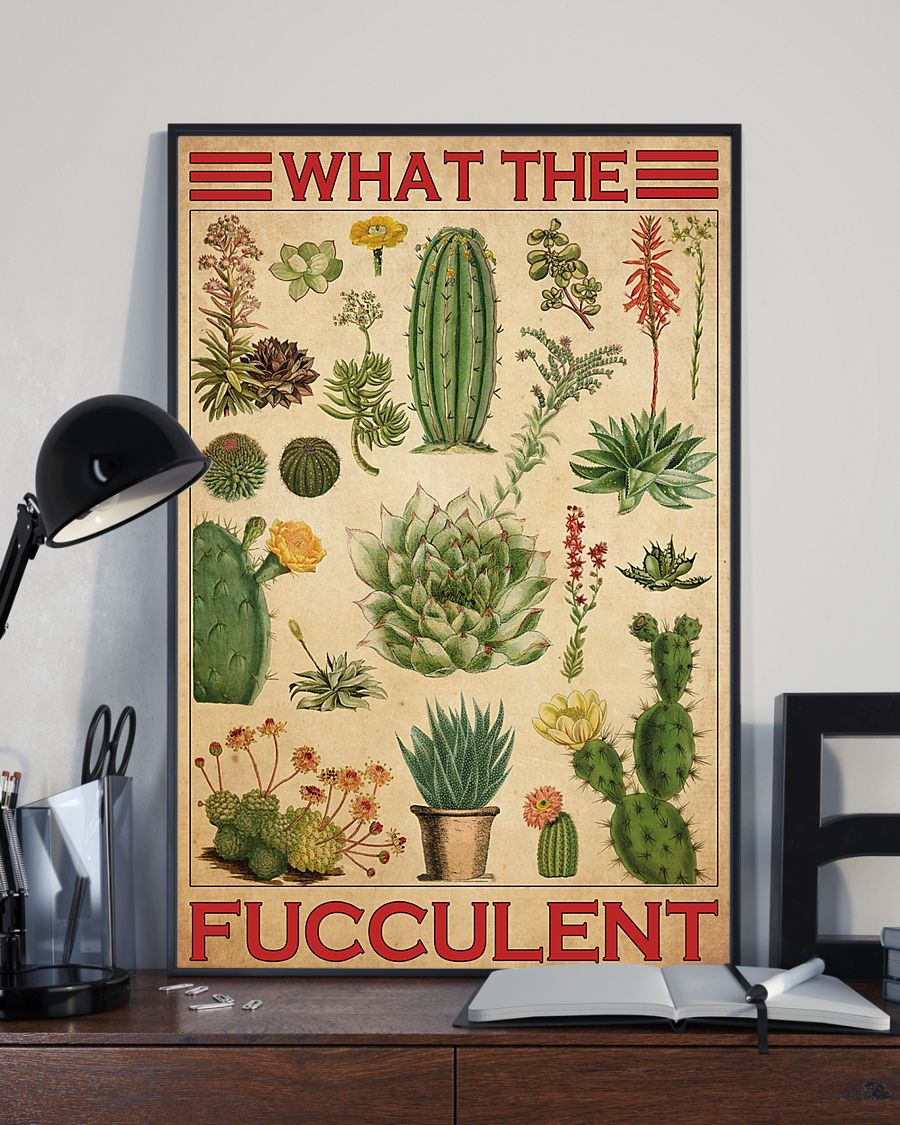 cactus what the fucculent vintage poster 3