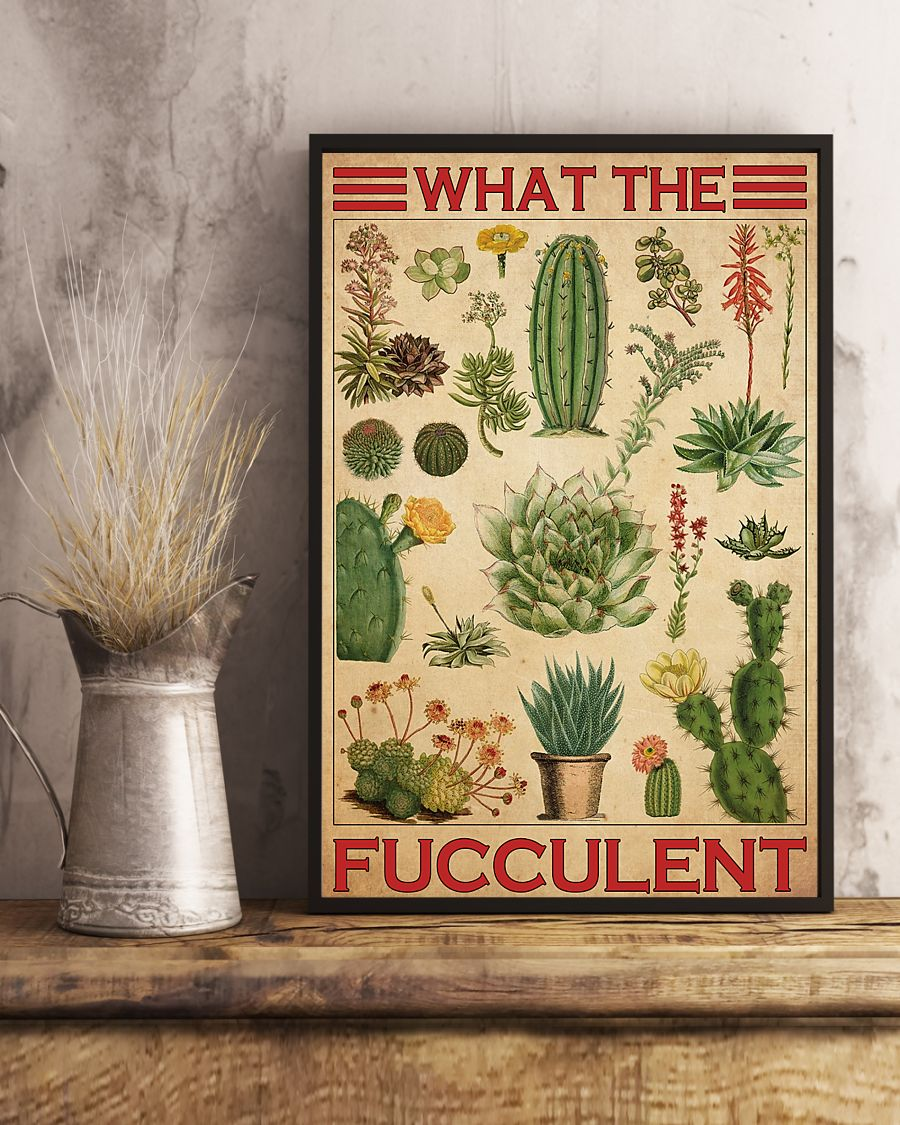 cactus what the fucculent vintage poster 4