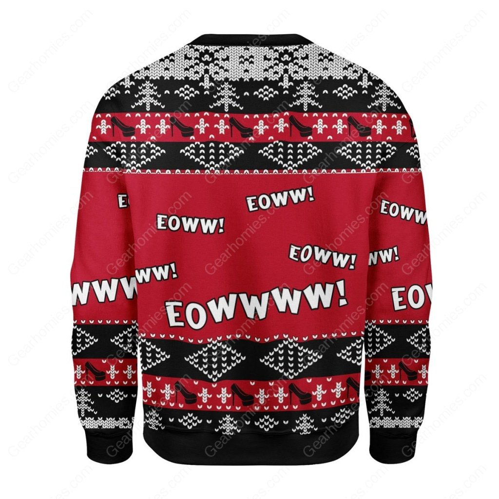 cardi b eowwww all over printed ugly christmas sweater 4