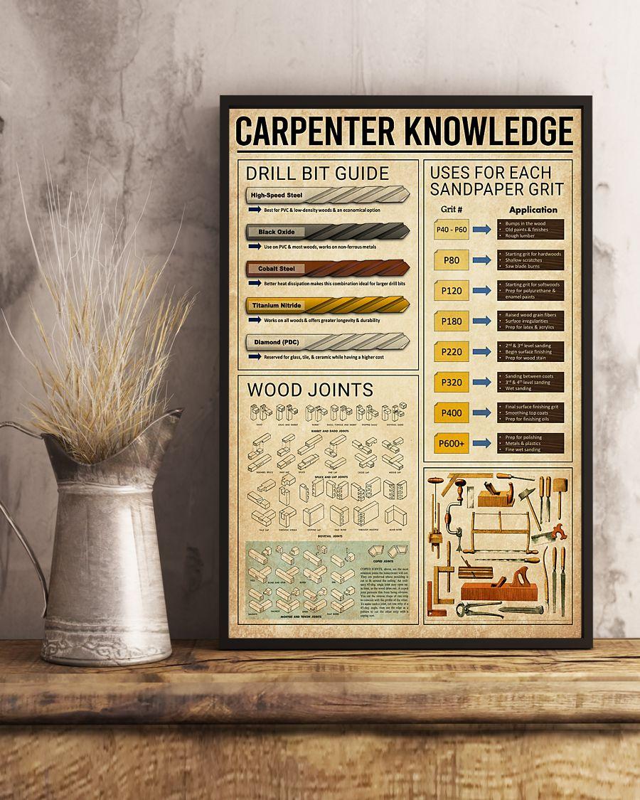 carpenter knowledge vintage poster 3