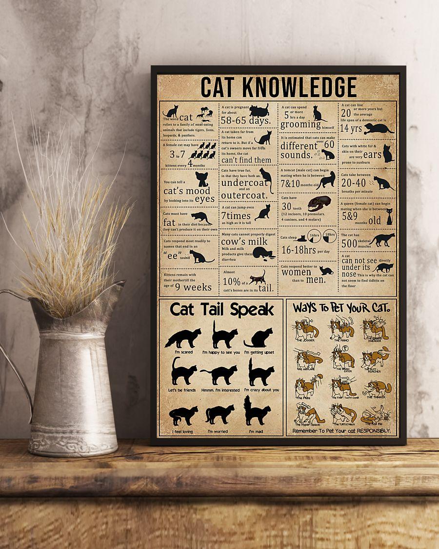 cat knowledge vintage poster 2