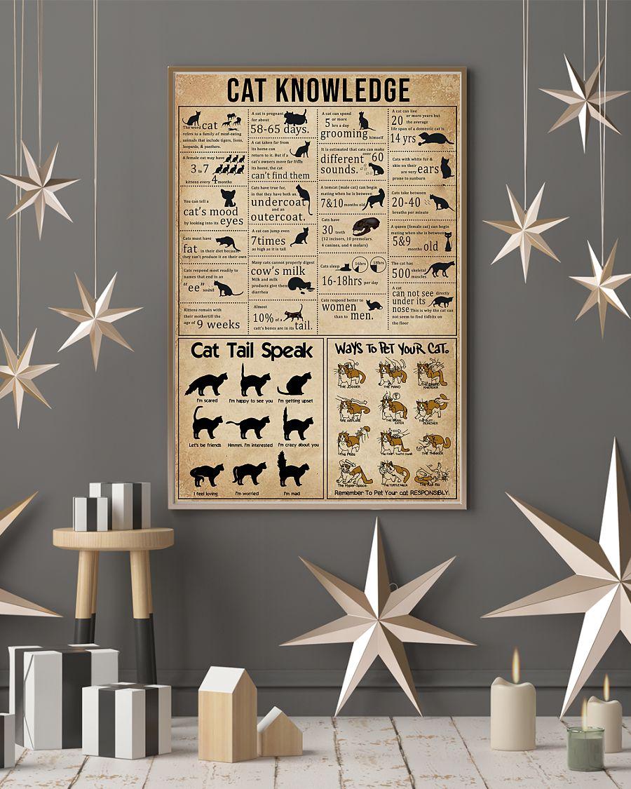 cat knowledge vintage poster 3