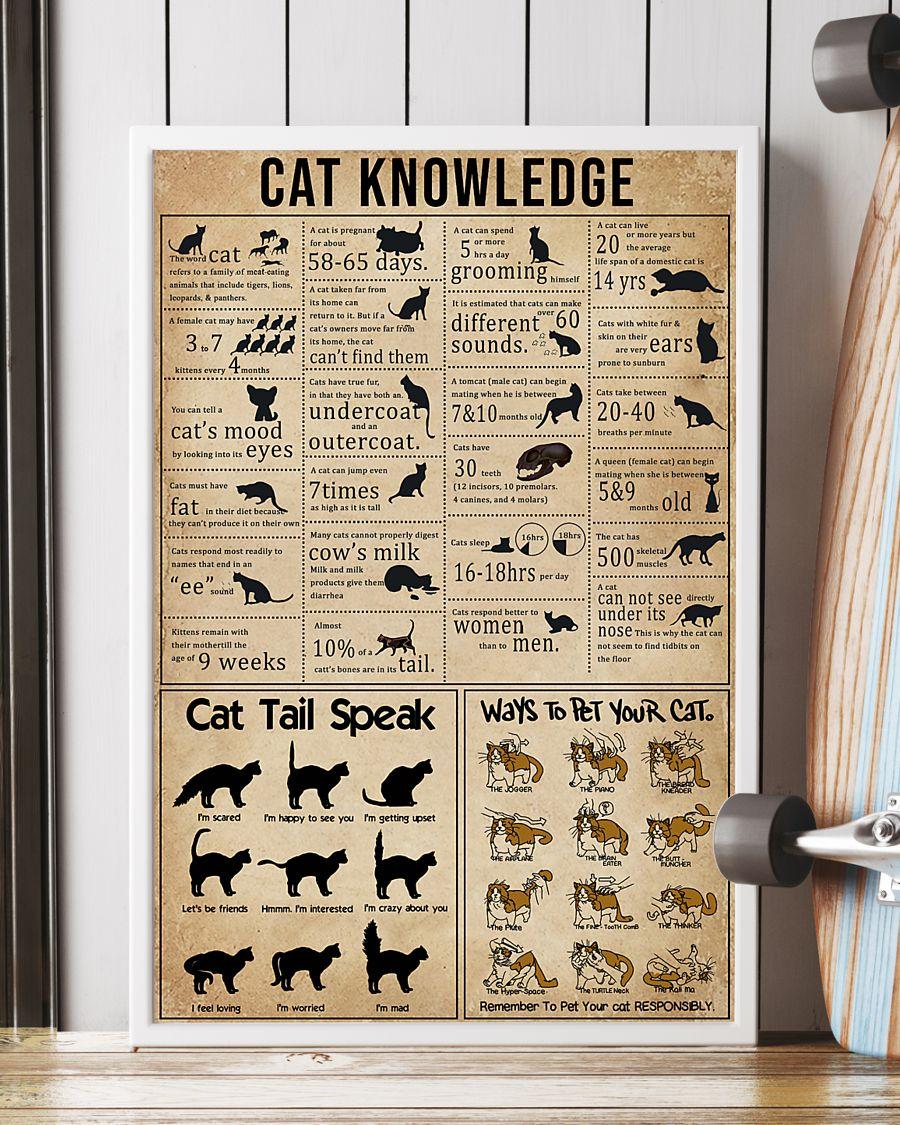 cat knowledge vintage poster 4