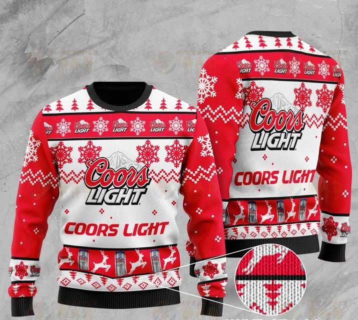 coors light beer all over printed ugly christmas sweater 2