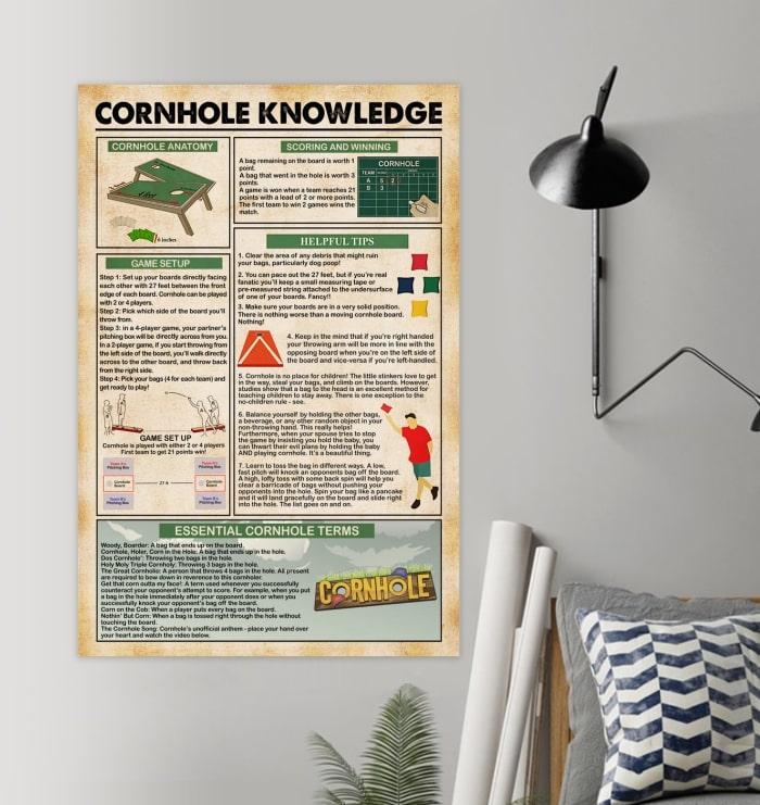 cornhole knowledge vintage poster 2