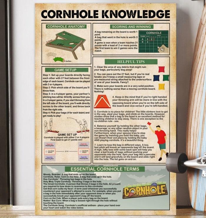cornhole knowledge vintage poster 4