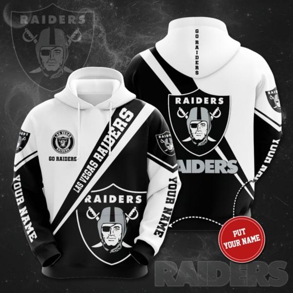 custom name las vegas raiders symbol full printing hoodie