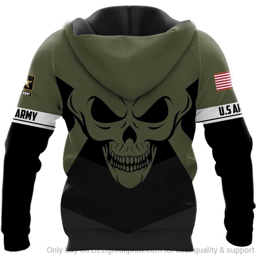 custom name skull the united states army full over printed shirt 3