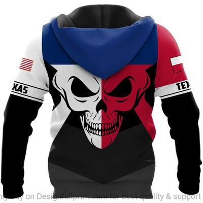custom name us army skull texas flag all over printed shirt 3
